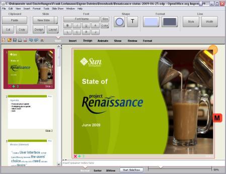 Prototipo 2 de la nueva interfaz de usuario de OpenOffice